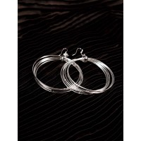 Swirls and Twirls Silver Plated Designer Hoops Western Earrings