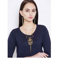 Golden Layered Western Necklace