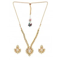 Gold-Plated Kundan Studded Jadau Jewellery Set