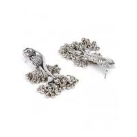 Peacock Afgani Oxidized Silver Necklace Set
