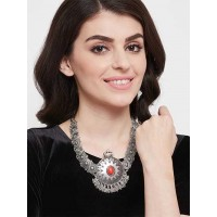 Statement Oxidized Choker Necklace