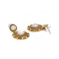 Short Pearl Dangle Earrings