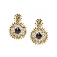 Short Golden and Blue Surya Earrings