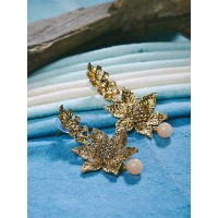 Golden Flower Ethnic Earrings