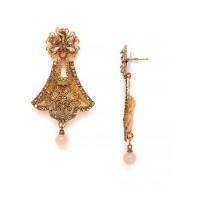 Golden Bell Ethnic Dangle Earrings