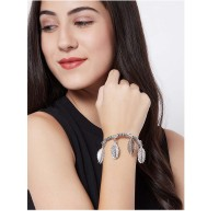 Combo Of Oxidized Silver Cuff Bracelet and Necklace