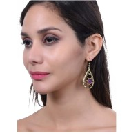 Versatile Semi Precious Gemstones Embellished Handmade Earrings and Necklace Combo