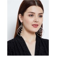 Four Layer Silver Hoop Earrings Combo