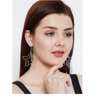 Multi-Layer Stars and Circles Silver Hoop Earrings Combo