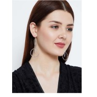 Multi-Layer Oval Hoops and Classic Silver Earrings Combo
