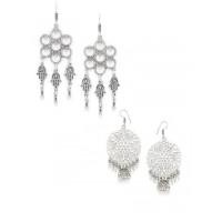 Combo of Two Oxidized Silver Dangle Earrings