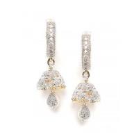 Combo of Two American Diamond Dangle Earrings