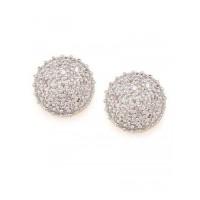 Combo of Two Clustered American Diamond Stud Earrings