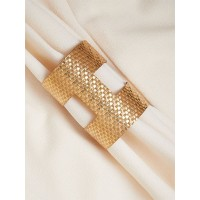 Patterned Golden Cuff Bracelet