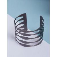 Contemporary Black Cuff Bracelet