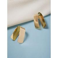 Golden Contemporary Earrings