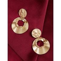 Contemporary Golden Dangle Earrings