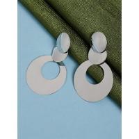 Contemporary Silver Dangle Earrings
