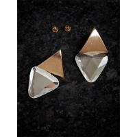 Golden and Silver Short Earrings
