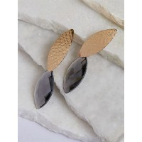 Golden and Grey Short Earrings