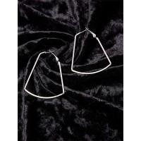 Silver Geometrical Hoop Earrings