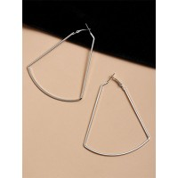 Classic Silver Geometrical Earrings