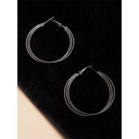 Silver Multi Hoops Earrings