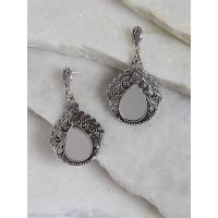 Silver Mirror Dangle Earrings