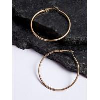Classic Golden Hoop Earrings For Women