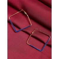 Golden and Blue Geometrical Earrings