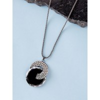 Grey and Silver Western Necklace