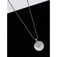 Silver Flower Western Necklace
