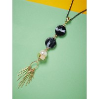 Golden and Blue Contemporary Necklace