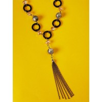 Black and Grey Contemporary Necklace For Women