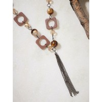 Shades Of Brown Contemporary Necklace