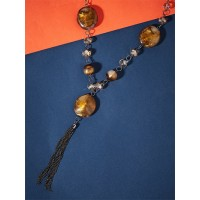 Brown Contemporary Necklace