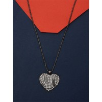 Blue and Silver Leaf Necklace For Women