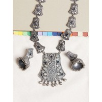 Silver Plated Brass Necklace Set