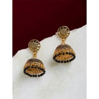 Classic Golden Jhumka Earrings