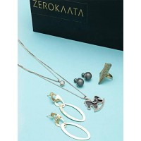 Set of Cotemporary Necklace, Earrings and Ring
