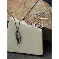 Set of Contemporary Pendant Necklace, Earrings and Ring