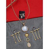 Set of Contemporary Necklace, Earrings and Ring