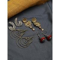 Set of Ethnic, American Diamond, Hoops and Western Earrings