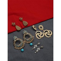Set of Ethnic and Contemporary Earrings