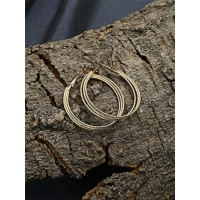 Layered Golden Hoop Earrings For Women