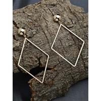 Long Golden Geometrical Earrings