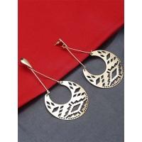 Long Golden Dangle Earrings For Women