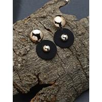 Golden and Black Dangle Earrings