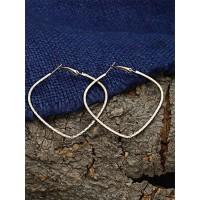 Pretty Golden Heart Hoop Earrings For Women