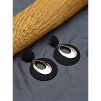 Black and Golden Dangle Earrings